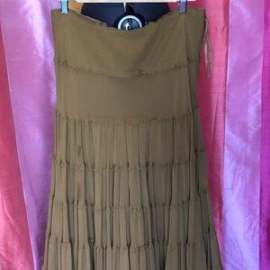 Jones New York brown silk skirt
